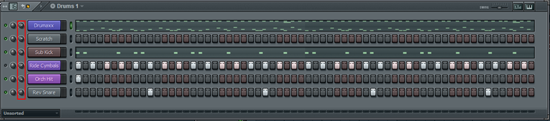 Adjusting relative volumes of tracks