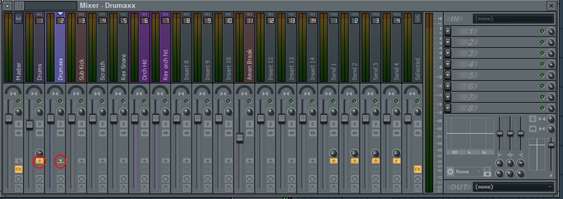 Mixing drum tracks