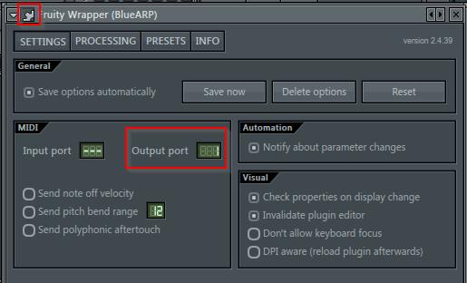 BLueARP channel settings